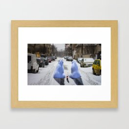 The bears are in town Framed Art Print