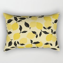 Seamless Citrus Pattern / Lemons Rectangular Pillow