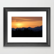 the Midnight Sun Framed Art Print