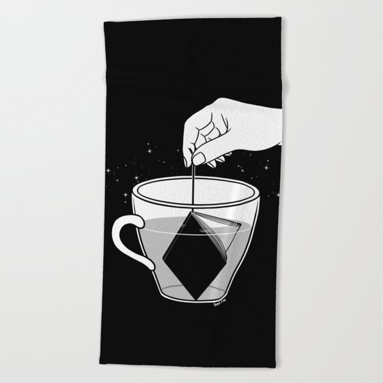 A Cup of Book Beach Towel