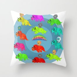 Triceratops Baby Throw Pillow