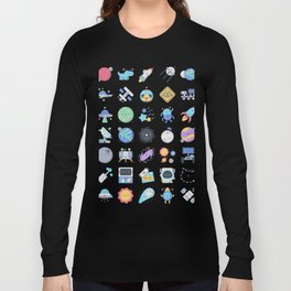 CUTE OUTER SPACE / SCIENCE / GALAXY PATTERN Long Sleeve T-shirt