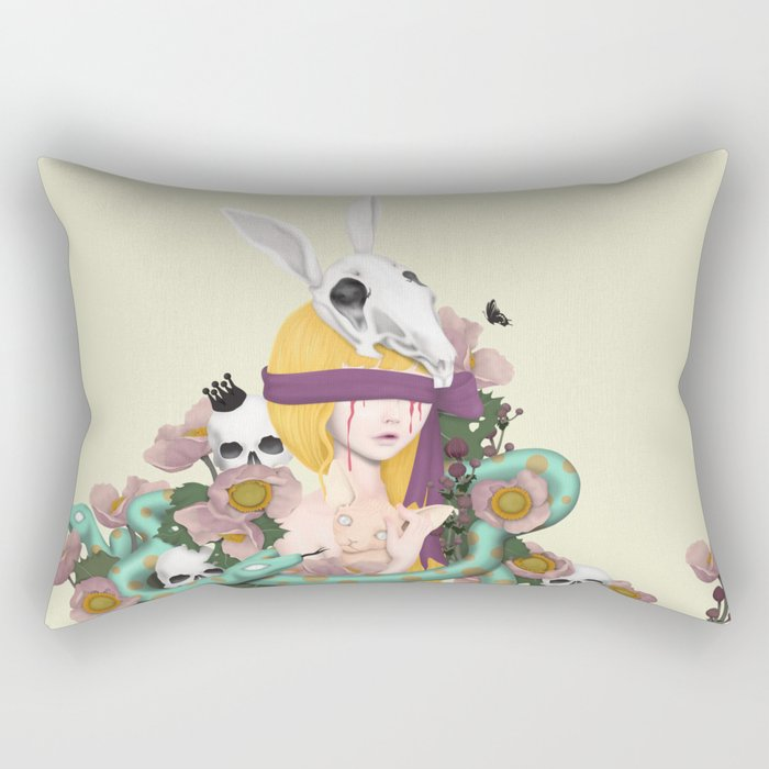 blind girl Rectangular Pillow