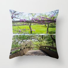 Bridges and Branches Throw Pillow