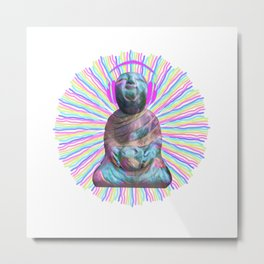 Electric Budha Metal Print