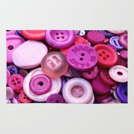 Pink buttons Rug