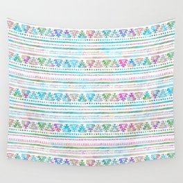 Neon Multi-Colored Tribal Pattern Wall Tapestry