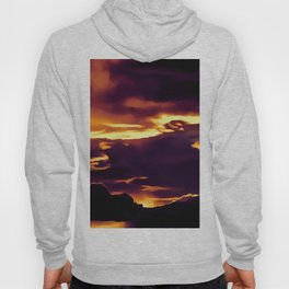 cloudy burning sky reacls Hoody