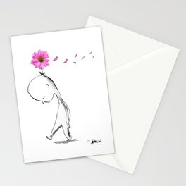 windy petals Stationery Cards