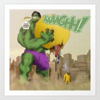 Hulk - 'Google's World - M.E' Art Print