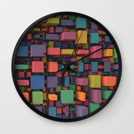 Random Cubes Wall Clock