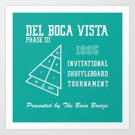 Del Boca Vista Shuffleboard Tournament Art Print
