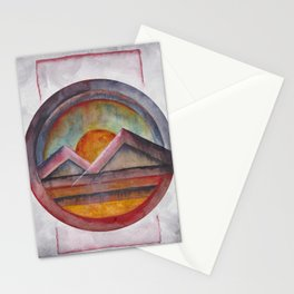 Geometric landscapes 02 Stationery Cards