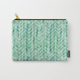 Caribbean green watercolor pattern Carry-All Pouch