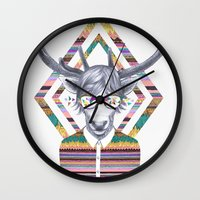 kris tate Wall Clocks featuring DREAMTAPES, created by Elena Mir and Kris Tate by Serpentine