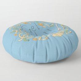 Get Well Soon (Chicken Noodle) Floor Pillow
