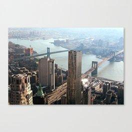 Vintage New City Canvas Print