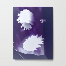 Photogram ultra violet pine cones Metal Print