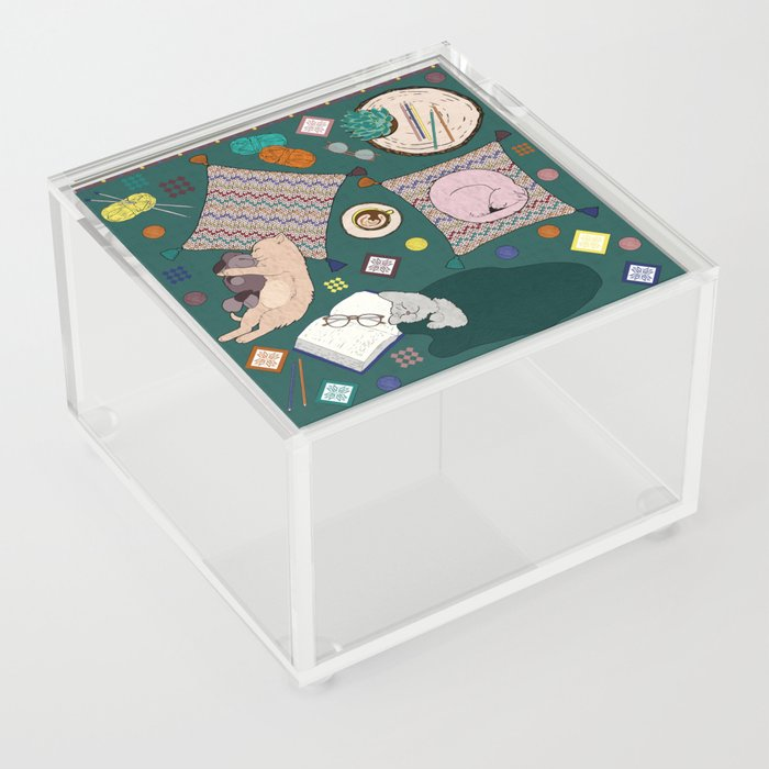 Hygge Kitten Acrylic Box