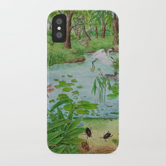 A Day of Forest (4). (the lake ecosystem) iPhone Case
