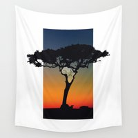 africa Wall Tapestries featuring Africa by Trevor Seymour