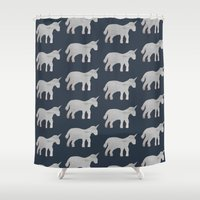 unicorns Shower Curtains featuring Unicorns  by Katelyn Patton