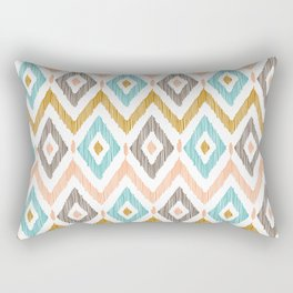 Sketchy Diamond IKAT Rectangular Pillow