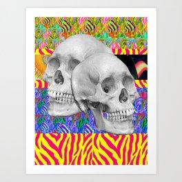 Skull Skull  Art Print