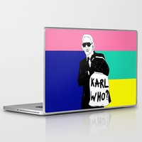 karl Laptop & iPad Skins featuring KARL WHO by TEN-iD