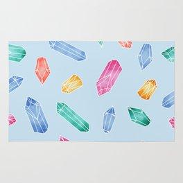 Crystals pattern - Light Blue Rug