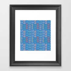 Pattern Project #9 / Funny Pattern Framed Art Print