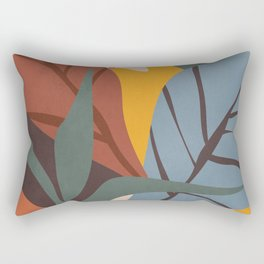 Abstract Art Jungle Rectangular Pillow