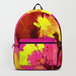 yellow flowers on fuchsia Backpack