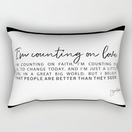 Counting on Love - Love Lyrics - Love Quote - Jess Novak Band Print Rectangular Pillow