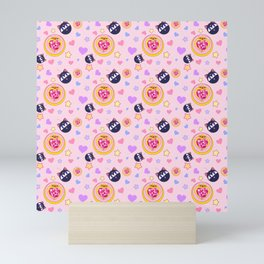 Sailor Chibi Moon Brooch & LunaP Mini Art Print