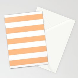 Macaroni and Cheese - solid color - white stripes pattern Stationery Cards