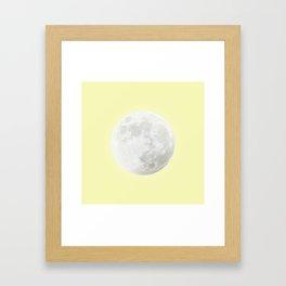 WHITE MOON + CANARY YELLOW SKY Framed Art Print