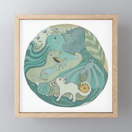 Planet Earth 1 Framed Mini Art Print