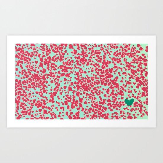 Animal Print Pink Art Print