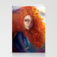 merida Stationery Cards featuring Merida by ChrySsV