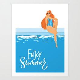 Enjoy Summer #5 Art Print