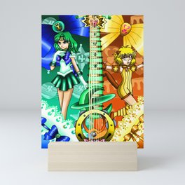 Sailor Mew Guitar #53 - Sailor Neptune & Mew Pudding Mini Art Print