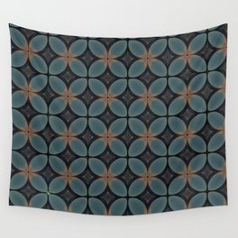 Metallic Deco Blue Wall Tapestry