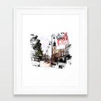 poland Framed Art Prints featuring Poland - Krawkowskie Przedmiescie, Warsaw by viva la revolucion