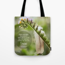 Free Feather Tote Bag