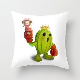 Mimi and Palmon Throw Pillow