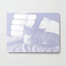 master zen cat Metal Print