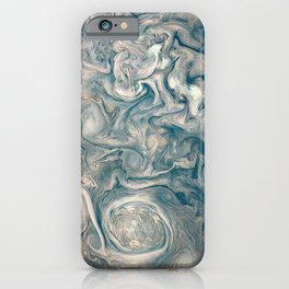 Jupiter Stormy Weather Watercolor Texture iPhone Case