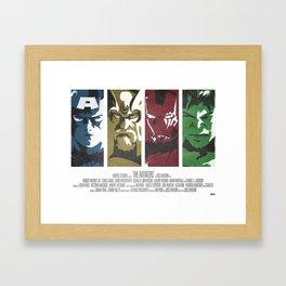 Vintage Avengers Film Poster Framed Art Print