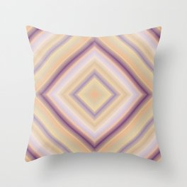 rotated square caro in pastel colors Throw Pillow